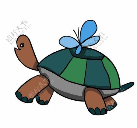 乌龟插画图片