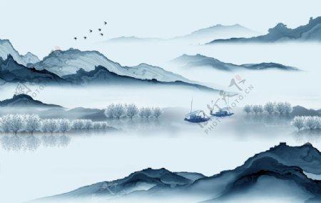 新中式意境山水图片