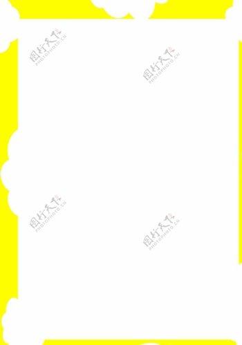 黄色儿童卡通手绘背景边框素材图片