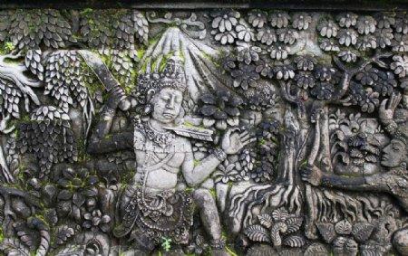 巴厘岛雕塑图片