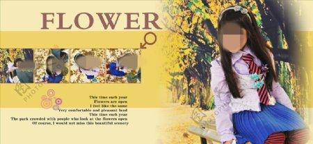 小可爱周岁纪念册PSD模板图片