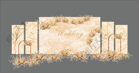 大理石婚礼大理石底纹白色主图片