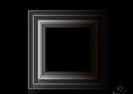 高级黑白渐变立体几何图片