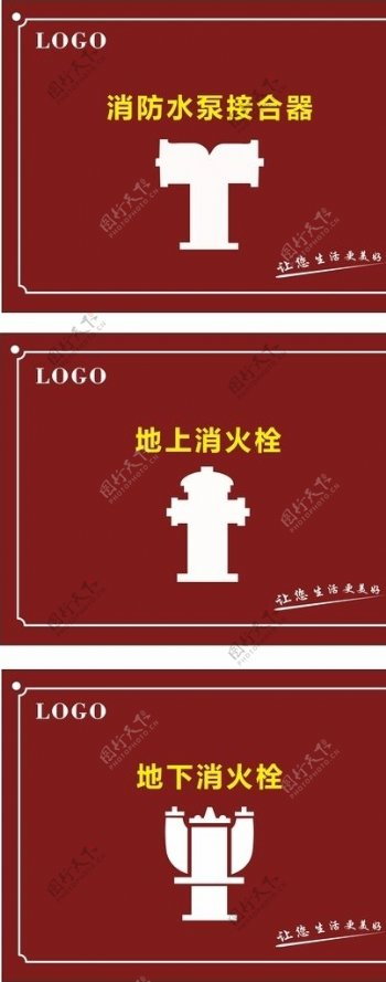 消防栓标识牌图片