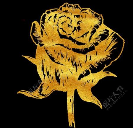 金色花朵图片