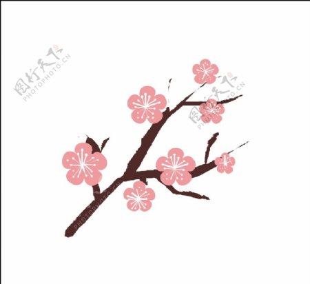 矢量桃花图片