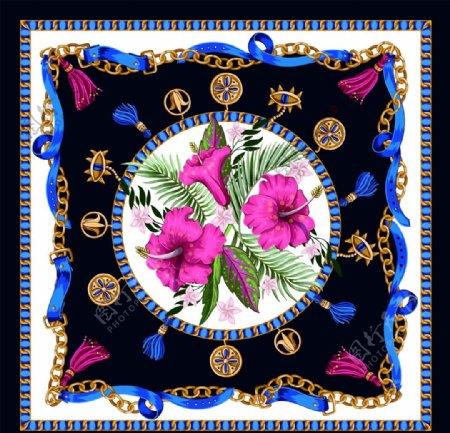 大牌链条红花图片