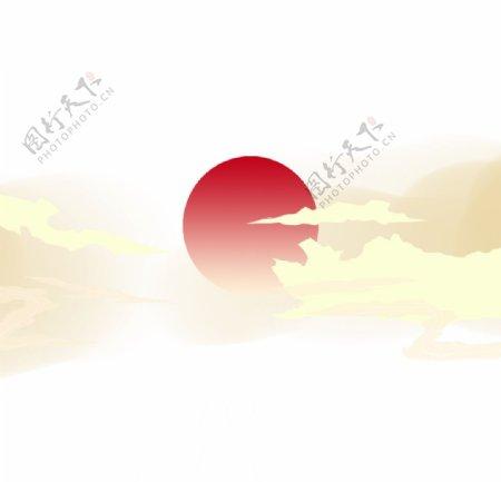 国潮装饰日出元素图片