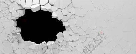 破墙3d立体图片