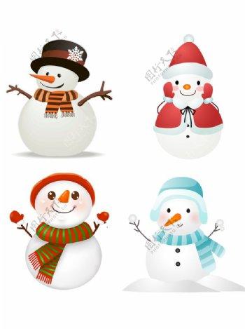 圣诞节冬季雪人素材图片