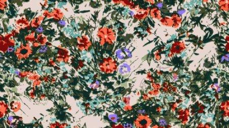 小碎花手绘花无缝图案图片
