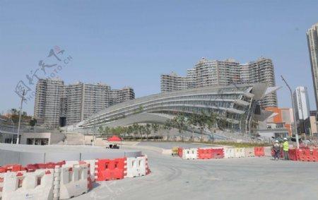 建设中的高铁西九龙站图片