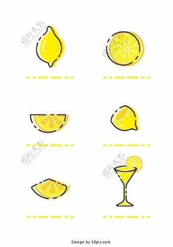 柠檬插画图片