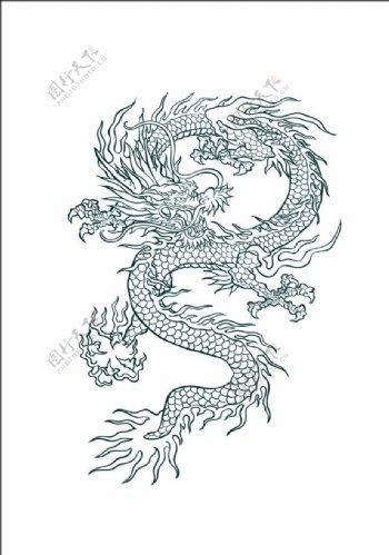 龙中国龙花纹神兽古典龙图片