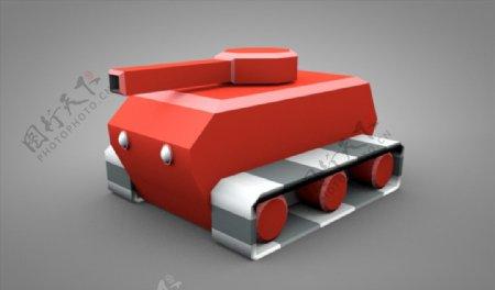 C4D模型像素坦克图片