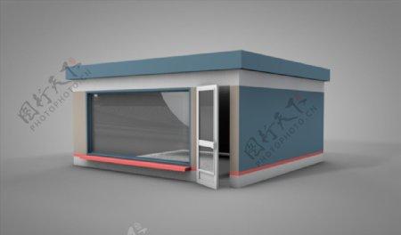 C4D模型像素房子图片