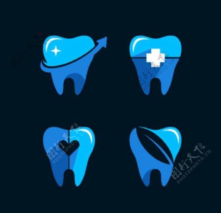卡通牙齿牙齿矢量图片