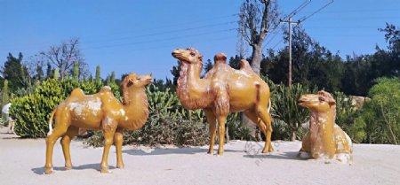 植物园骆驼雕塑图片