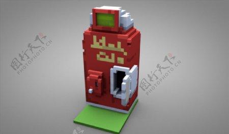 C4D模型投币机自动贩卖机图片