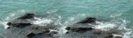 海水礁石图片