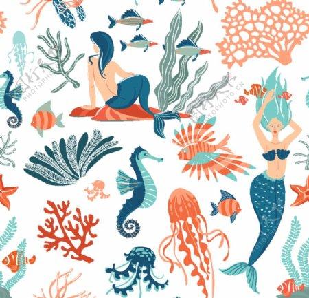 海底世界人鱼图片