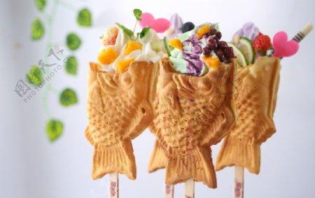 鲷鱼烧小吃冷饮冰淇淋图片