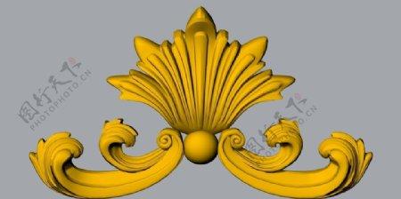 建筑装饰浮雕花SH012dwg图片