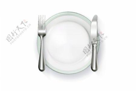 刀叉碟子图片