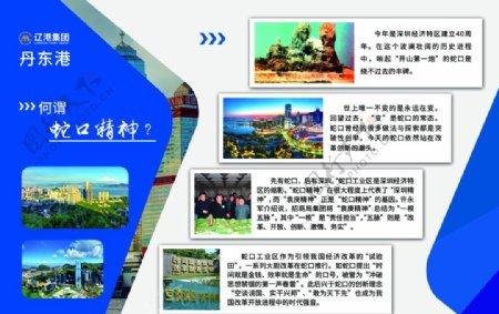 展板企业文化蛇口精神蓝色图片