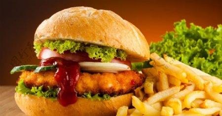汉堡薯条图片