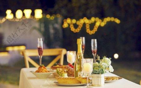 精致的晚宴图片