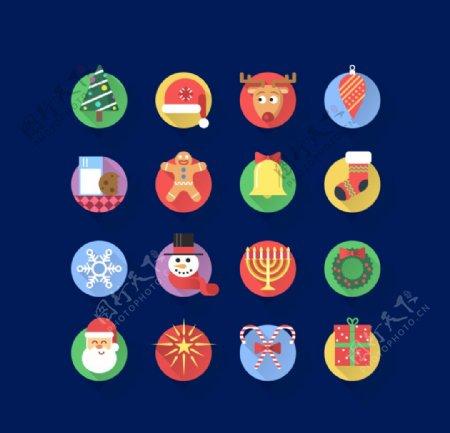 圣诞图标圣诞元素ICON树图片