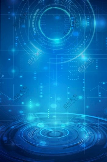 蓝色背景蓝色展板蓝色科技图片