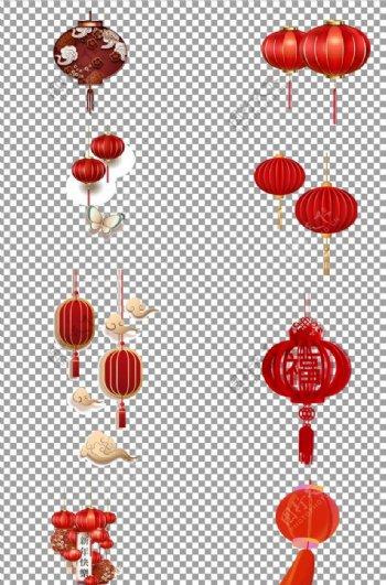 红色灯笼古典图片
