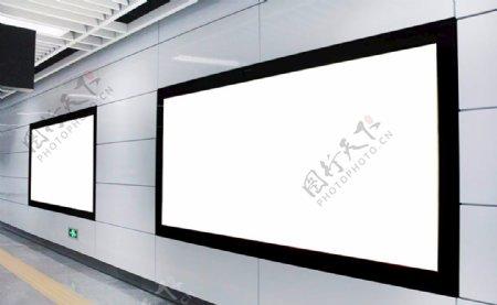 空白站台地贴灯箱广告效果图图片