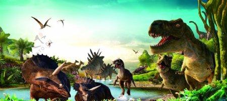 恐龙素材图片