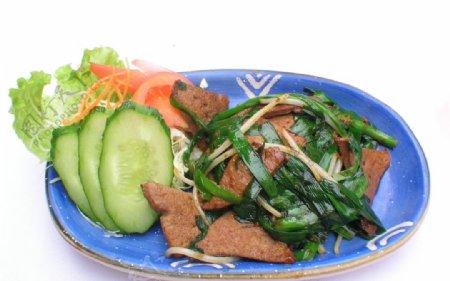 韭菜炒猪肝图片