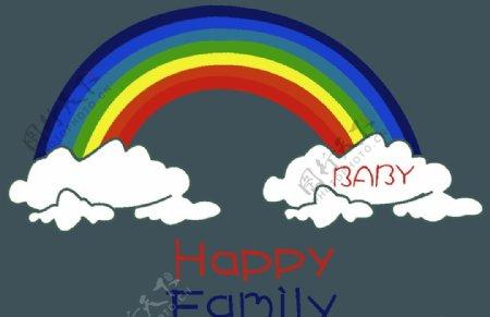 彩虹云朵T恤裁片图片