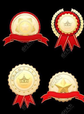 立体质感勋章徽章图片