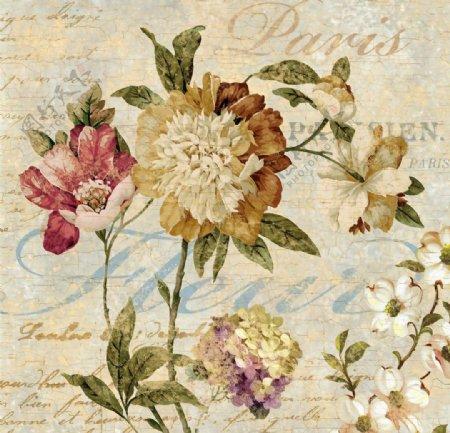 美式花朵装饰画图片