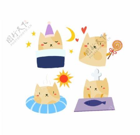 可爱猫咪素材图片