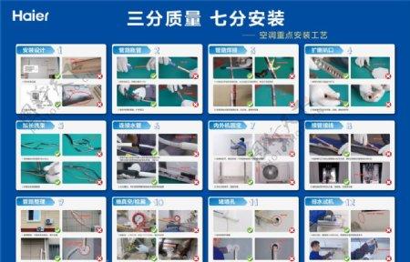 海尔空调安装重点工艺图片
