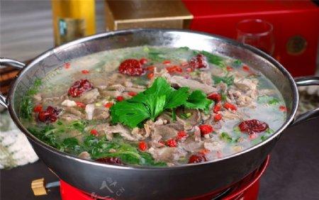 汤羊肉汤锅图片
