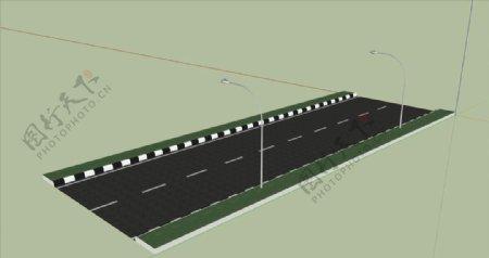 马路SU模型图片