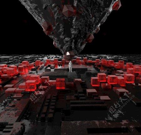 科技科幻电路图图片