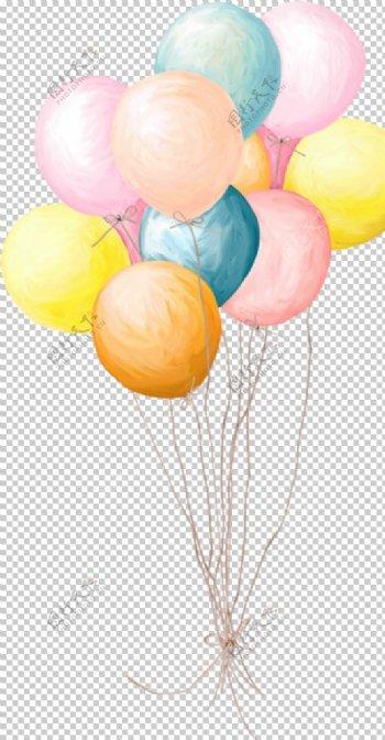手绘彩色气球图片