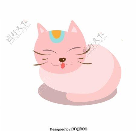 可爱的粉色小猫图片