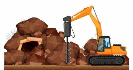 矿洞工程车图片
