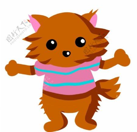 可爱的小狗插画图片
