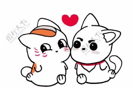 可爱的情侣猫图片